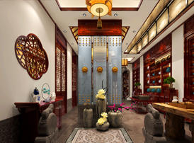 大同私人茶会所禅意中式设计效果图  茶香悠远 禅意深深