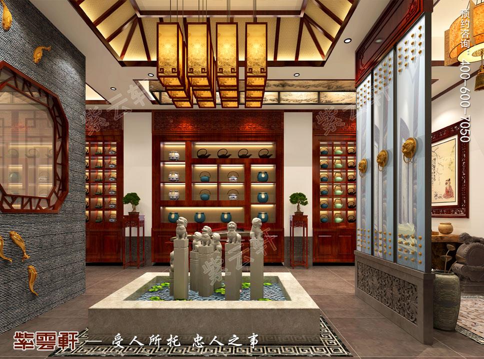 茶会所大厅中式设计