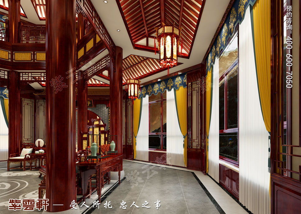 八角中庭中式装饰图片