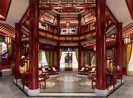 黑龙江鹤岗办公会所中式装饰图片  古典之美让人惊喜赞叹