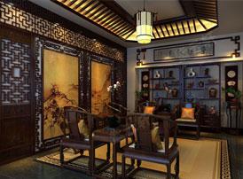 中式生活中的家具和字画
