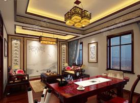 中式装修风格的书房适合挂什么字画