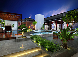 典雅自然的中式庭院设计