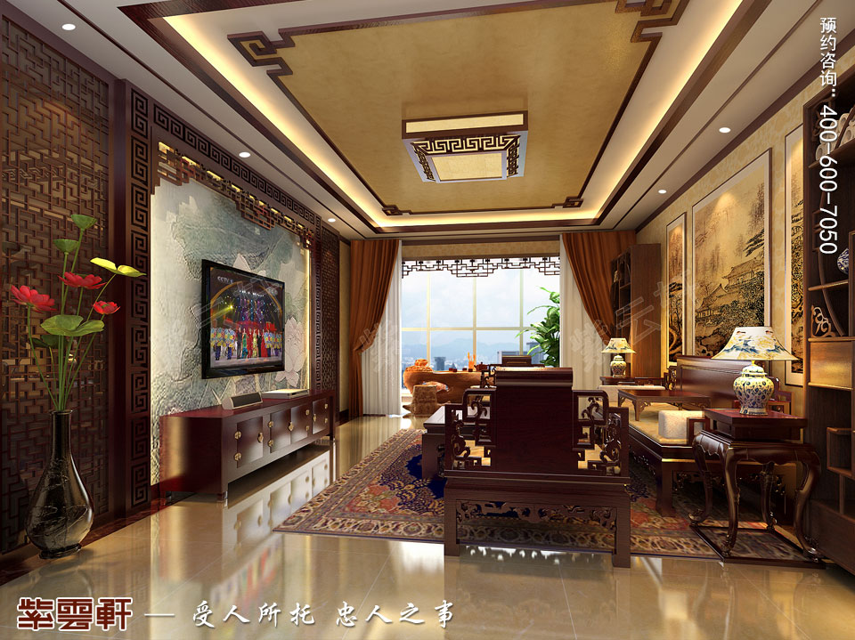 客厅中式风格装修图