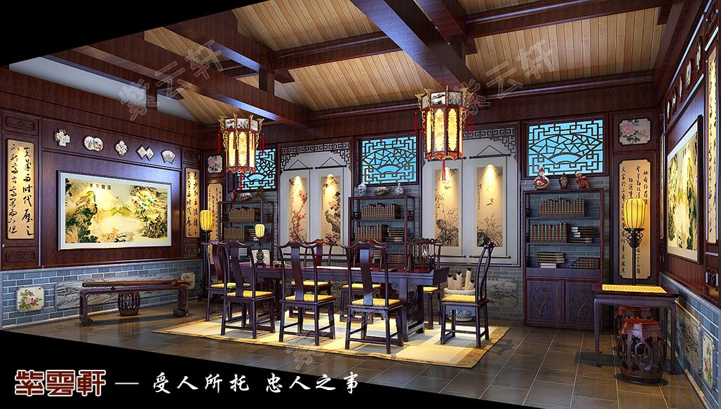 茶室中式风格设计