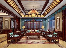 看中式客厅效果图,感受一派悠然氛围