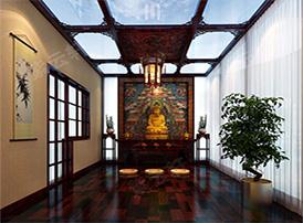 佛堂装修效果图中的中式禅意