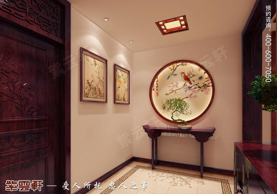 传统家装装饰玄关