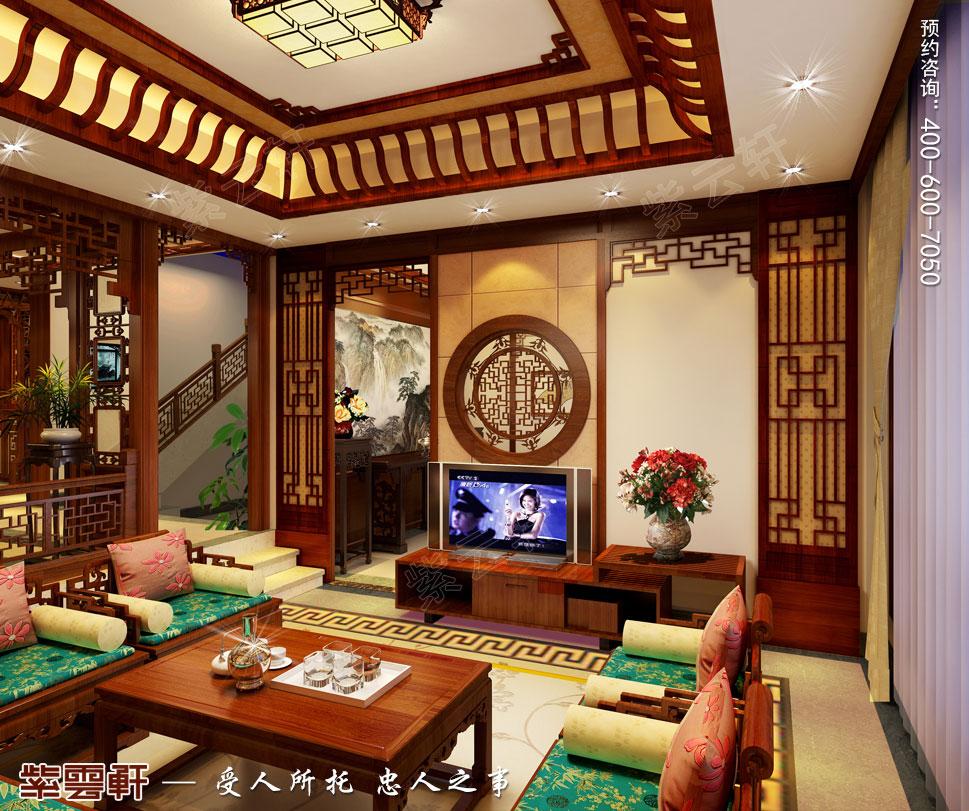 楼中楼复古设计客厅