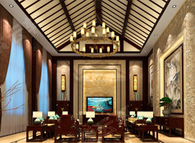 中式客厅效果图中的万种风情