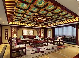 中式客厅实例中的秋月春风
