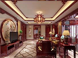 仿古客厅设计图中的雅致悠然