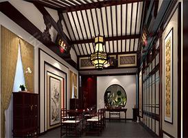 风雅古典的茶室装修案例
