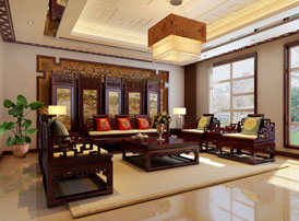 花鸟明媚的传统风格公寓