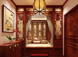 卧室中式装潢的简净淡雅
