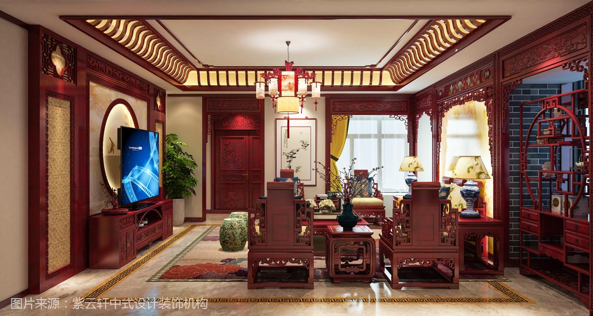 自建房装修客厅中式