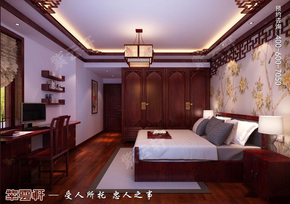 中式装修设计 卧室图