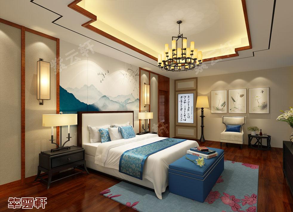 中式别墅装修 卧室装修效果图