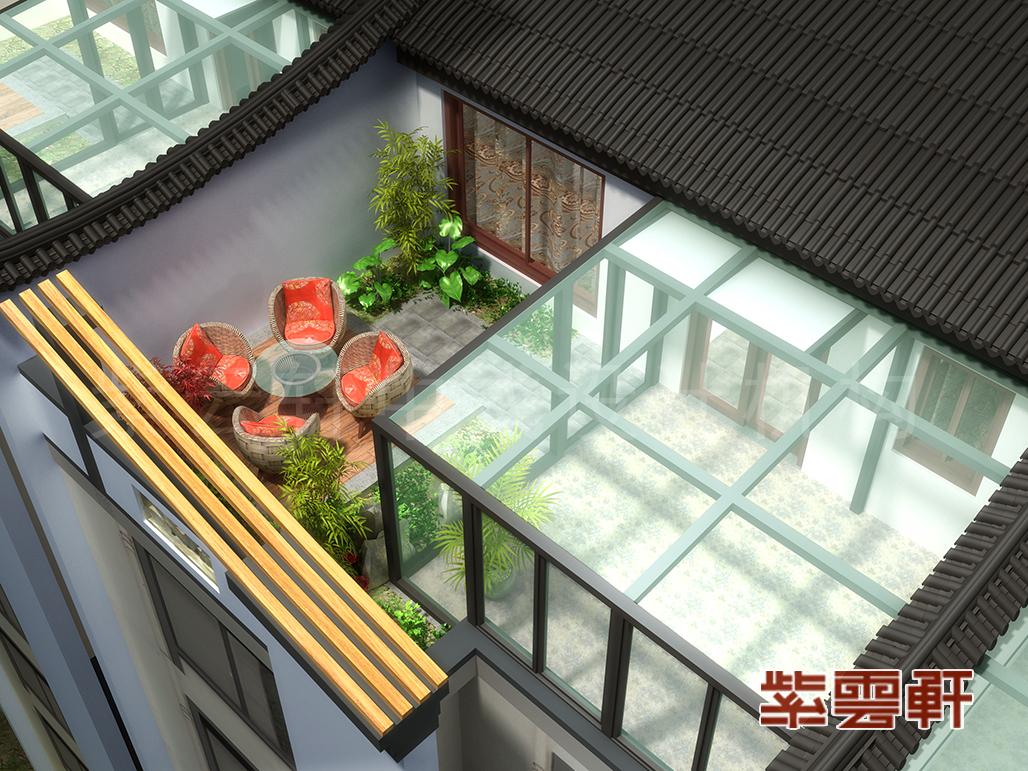 阳台中式装修效果图