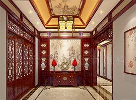 传统门厅设计图中的装修风水