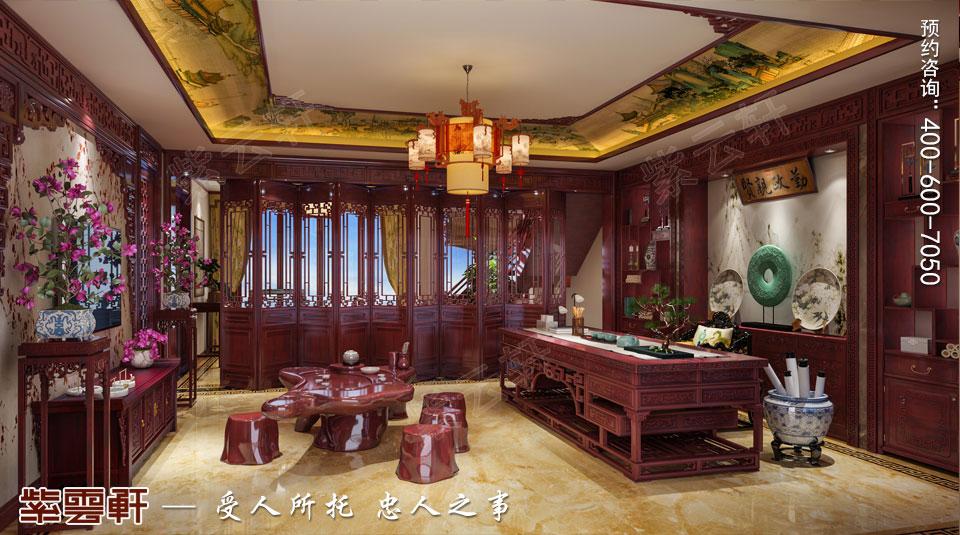 传统楼中楼装修书房茶室