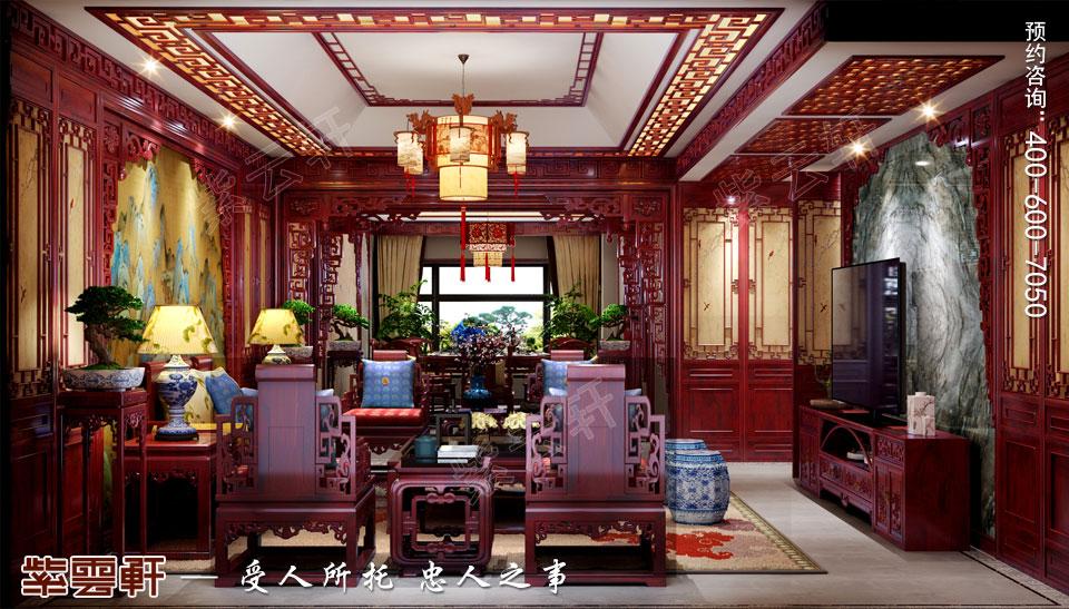 传统楼中楼装修客厅