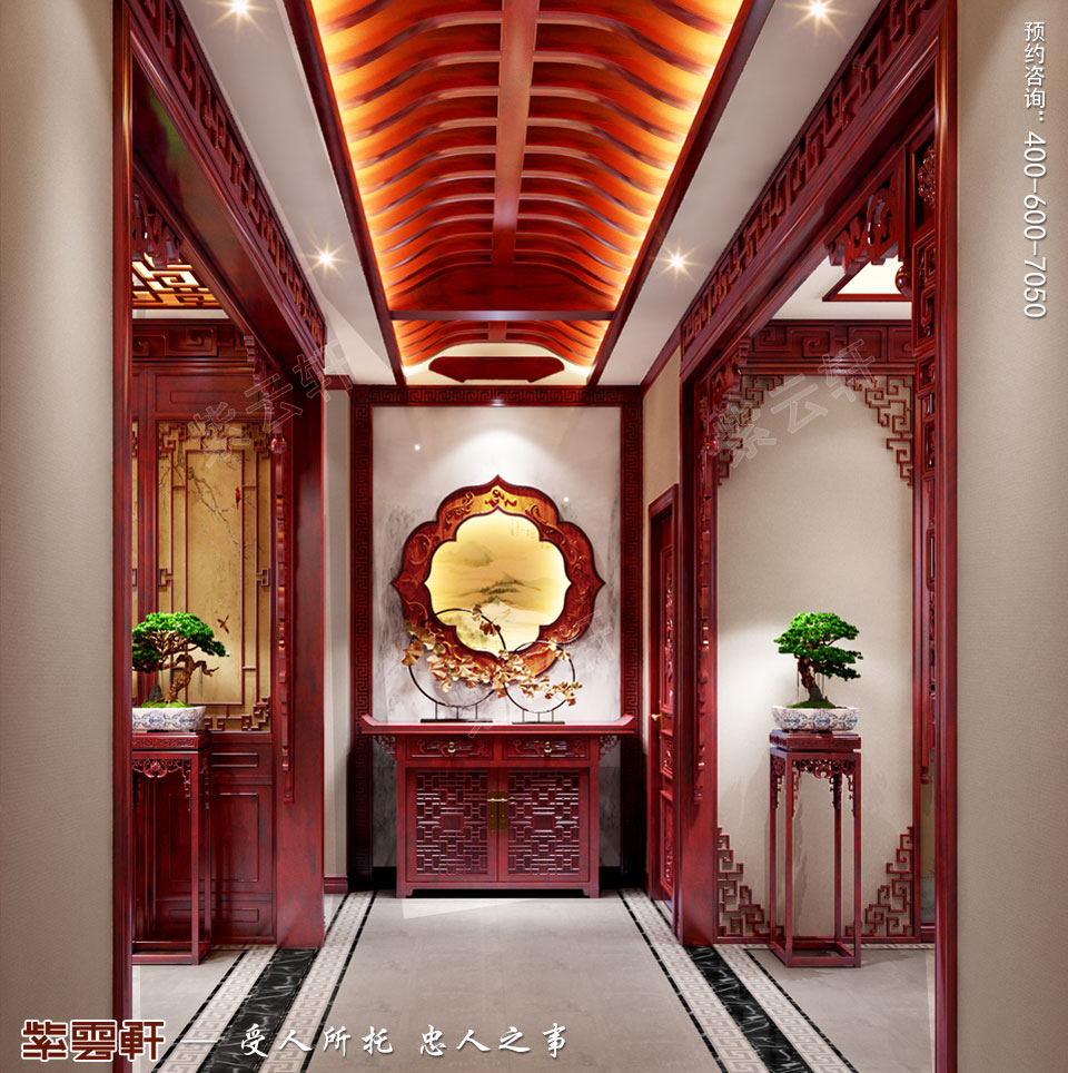传统楼中楼装修门厅