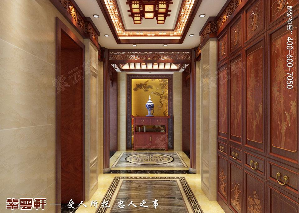 中式豪宅设计玄关