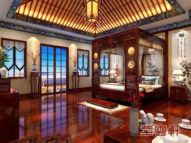 古典卧室实景图