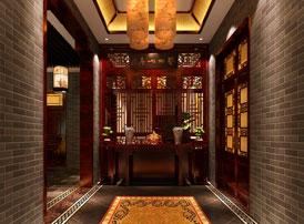 中式玄关设计中的装修风水讲究