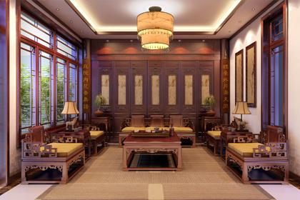 浙江绍兴现代中式别墅装修效果图,氤氲了一帘幽梦