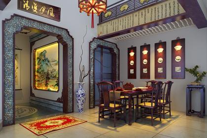辽宁盘锦复式楼简约复古中式风格 取尽东方文化的诗情画意