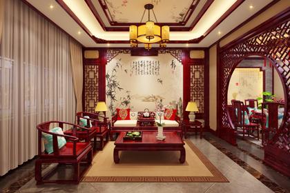 河北邢台古典中式别墅装修效果图 古色古香,一派祥和