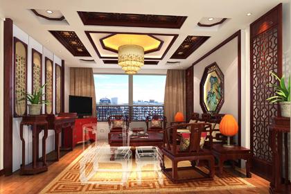 山东青岛古典中式设计平层住宅 营造清秀华丽的中式风格