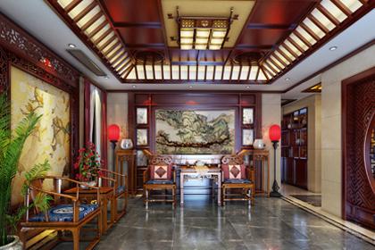 江苏徐州豪宅古典中式风格装修效果图,雍容华贵 宁静幽远