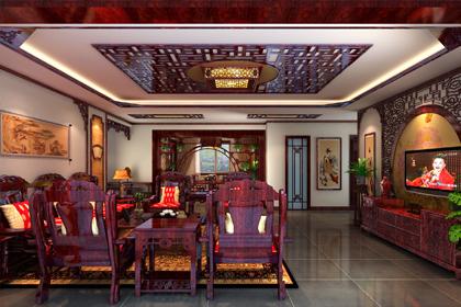 辽宁营口现代中式装修设计 一步一景的古典雅居