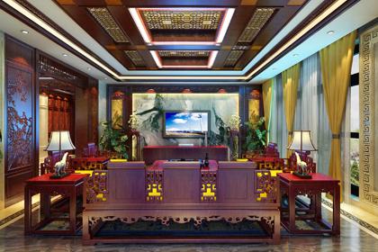 安徽合肥豪宅府邸古典中式装修风格,勾画出一幅意境清幽的自然画卷