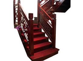 实木楼梯-雕花楼梯-花格楼梯
