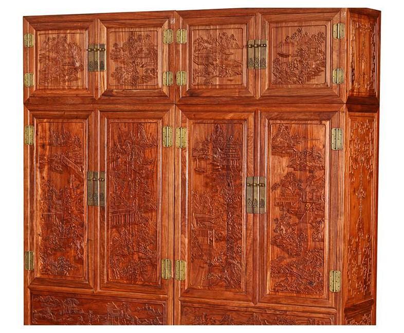 雕花顶箱柜