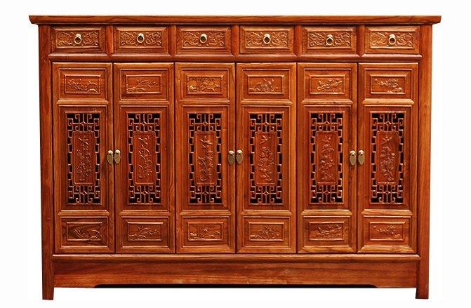 花格小雕花储物柜-鞋柜