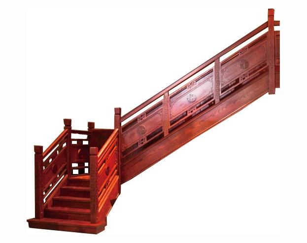 雕花板护栏楼梯