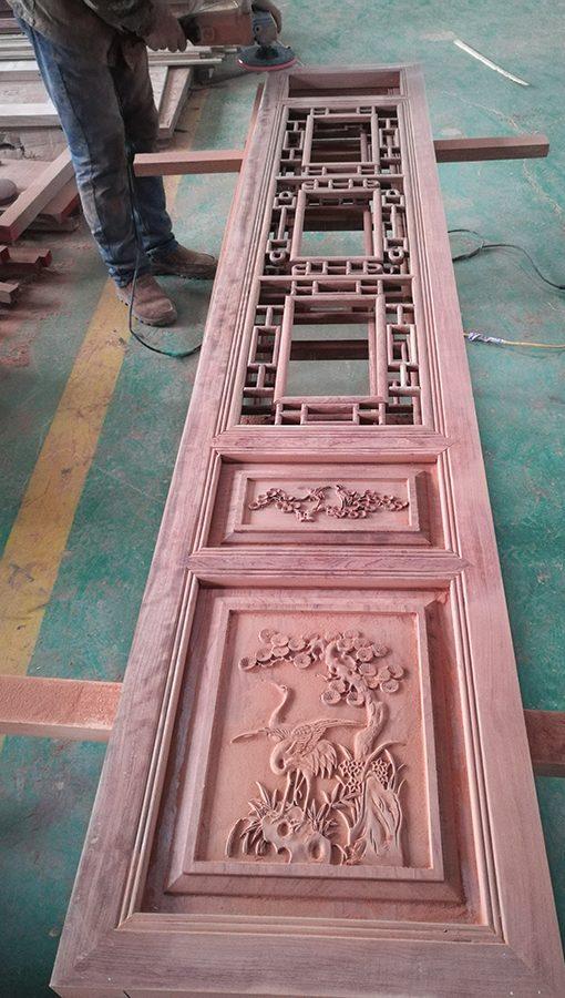 雕花格栅门-传统的中国风必备
